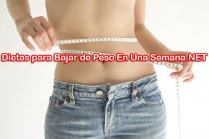 Dietas para Bajar de peso Rapido